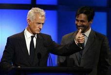 <p>File photo shows actors John Slattery (L) and Jon Hamm during the 24th Annual Television Critics Association Awards in Beverly Hills July 19, 2008. REUTERS/Gus Ruelas</p>