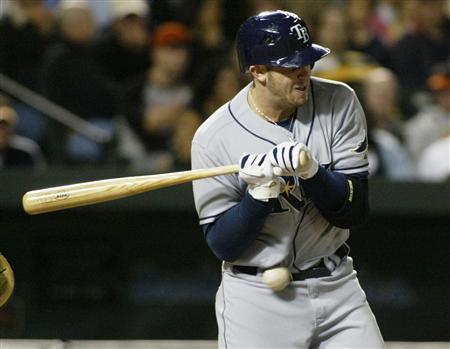 File photo shows Tampa Bay Rays batter Evan Longoria in Baltimore, Maryland September 24, 2008. REUTERS/Joe Giza