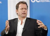 "<p>Actor Greg Kinnear gestures during the ""Flash Of Genius"" conference at the 33rd Toronto International Film Festival September 7, 2008. REUTERS/ Mike Cassese</p>"