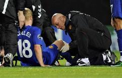 <p>Scholes lesionou-se durante partida da Liga dos Campeões REUTERS/Scanpix/Claus Fisker (DENMARK) NO COMMERCIAL USE. DENMARK OUT. NO COMMERCIAL OR EDITORIAL SALES IN DENMARK. NO COMMERCIAL OR BOOK SALES.</p>