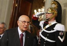 <p>Il capo dello Stato Giorgio Napolitano. REUTERS/Tony Gentile</p>