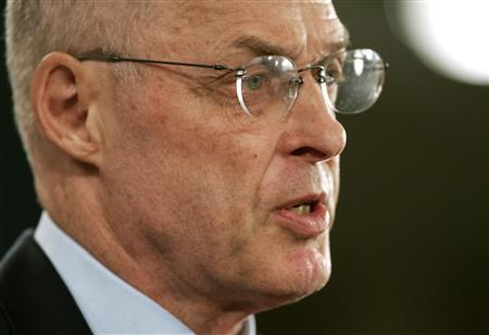 Treasury Secretary Henry Paulson addresses a news conference in Washington, October 8, 2008. REUTERS/Mitch Dumke