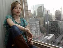 "<p>Actress Saoirse Ronan poses inside her hotel room in New York October 3, 2008. Ronan stars in the upcoming film ""City of Ember"", which tells the story of an underground city lit entirely by a power generator that is starting to fail. The film opens in theatres across the U.S. October 10. REUTERS/Shannon Stapleton</p>"