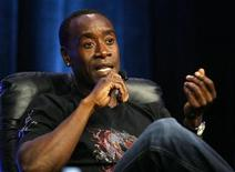 "<p>Actor Don Cheadle gestures during a panel for the Starz drama series ""Crash"" at the Television Critics Association 2008 summer press tour in Beverly Hills, California July 11, 2008. REUTERS/Mario Anzuoni</p>"
