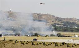 <p>Место авиакатастрофы в аэропорту Мадрида 20 августа 2008 года. REUTERS/Juan Medina(SPAIN)</p>