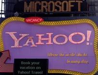 <p>Microsoft indique ne pas être intéressé par l'acquisition de Yahoo et dit qu'il n'a pas de discussion entre les deux sociétés. /Photo prise le 19 mai 2008/REUTERS/Joshua Lott</p>