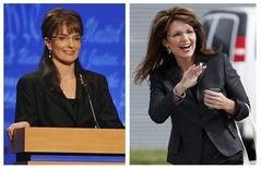 """<p>Fotografía combinada de la actriz Tina Fey (izquierda) y la Gobernadora de Alaska y candidata republicana a la vicepresidencia estadounidense, Sarah Palin, 17 oct 2008. La candidata republicana a la vicepresidencia estadounidense, Sarah Palin, ingresará el sábado a las líneas enemigas de la sátira política cuando aparezca en el programa de televisión """"Saturday Night Live"""". REUTERS/Dana Edelson/NBC/Handout REUTERS/Carlos Barria</p>"""