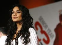"""<p>Cast member Vanessa Hudgens poses at the premiere of the movie """"High School Musical 3: Senior Year"""" at Galen Center in Los Angeles October 16, 2008. The movie opens in the U.S. on October 24. REUTERS/Mario Anzuoni</p>"""