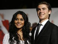"<p>Cast members Vanessa Hudgens and Zac Efron pose at the premiere of the movie ""High School Musical 3: Senior Year"" at Galen Center in Los Angeles October 16, 2008. REUTERS/Mario Anzuoni</p>"