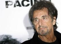 "<p>Actor Al Pacino poses while promoting his new film ""Righteous Kill"", also starring Robert de Niro, in Rome September 16, 2008. REUTERS/Dario Pignatelli</p>"