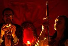 <p>A Samhain ritual is seen in a file photo. REUTERS/Jeff J Mitchell</p>
