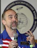 <p>Il turista spaziale americano Richard Garriott. REUTERS/Sergei Remezov</p>