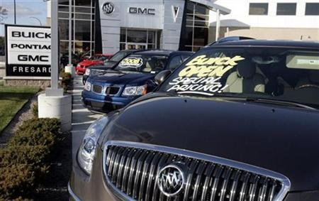 A Buick Enclave SUV sits for sale at a auto dealership in Ferndale, Michigan October29, 2008. REUTERS/Rebecca Cook