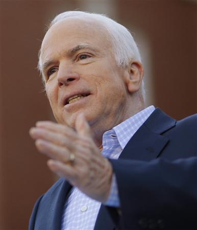 Republican presidential nominee Senator John McCain speaks at a campaign rally in Newport News, Virginia November 1, 2008. REUTERS/Brian Snyder