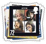 <p>La copertina di un album dei Beatles. FOR EDITORIAL USE ONLY REUTERS/Royal Mail/Handout (BRITAIN)</p>