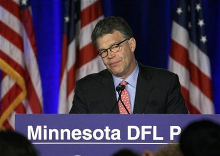 Al Franken speaks to supporters in St. Paul, Minnesota November 4, 2008. REUTERS/Eric Miller