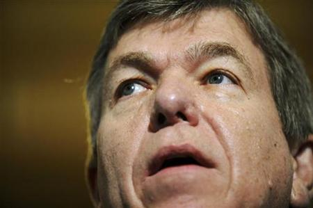 Rep. Roy Blunt speaks about efforts to rally fellow Republicans to help pass a bill to provide a $700 billion bailout for the current financial and banking crisis, on Capitol Hill in Washington, October 3, 2008. REUTERS/Jonathan Ernst