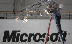 <p>Un cartellone della Microsoft.</p>