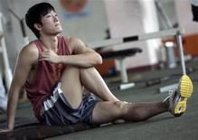 <p>Il campione mondiale di corsa a ostacoli Liu Xiang. REUTERS/Stringer (CHINA).</p>