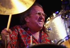 <p>British drummer Mitch Mitchell performs during a tribute concert to U.S. guitarist Jimi Hendrix at the Hippodrome in London in this October 25, 2007 file photo. REUTERS/Kieran Doherty/Files</p>