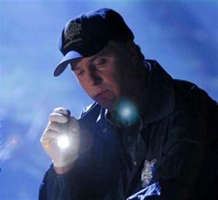 William Petersen as night shift supervisor Gil Grissom in ''CSI''. REUTERS/CBS/Handout