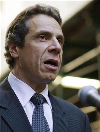 New York State Attorney General Andrew Cuomo answers questions during a news conference held on Wall Street in New York October 15, 2008. REUTERS/Brendan McDermid