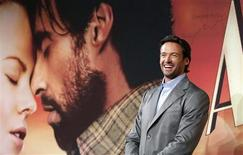 "<p>Actor Hugh Jackman poses before a news conference in Sydney on the day of the world premier of his new film ""Australia"" November 18, 2008. REUTERS/Tim Wimborne</p>"