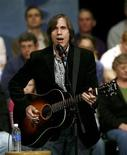 """<p>Musician Jackson Browne performs before a town meeting for former Democratic presidential candidate and former U.S. Senator John Edwards in Iowa City, Iowa, in this November 19, 2007 file photo. Browne has sued John McCain for copyright infringement, accusing the presumptive Republican nominee of using the singer's 1977 hit """"Running on Empty"""" in a campaign ad without permission. REUTERS/Shannon Stapleton/Files</p>"""