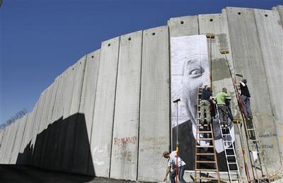West Bank wall graffiti