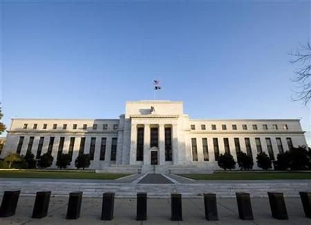 The Federal Reserve Building in Washington while the Fed is inside meeting, October 29, 2008. REUTERS/Larry Downing