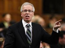 <p>Liberal leader Stephane Dion speaks during Question Period in the House of Commons on Parliament Hill in Ottawa December 2, 2008. REUTERS/Chris Wattie</p>