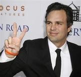 "<p>Actor Mark Ruffalo gestures at the premiere of his new film ""Reservation Road"" in Beverly Hills, California, October 18, 2007. REUTERS/Fred Prouser</p>"