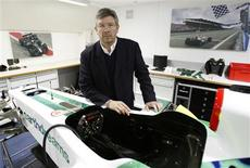 <p>Chefe da equipe de F1 da Honda, Ross Brawn, na Inglaterra. A Honda poderia vencer corridas na próxima temporada da Fórmula 1 caso não tivesse decidido sair da categoria nesta sexta-feira, diz Brawn. REUTERS/Stephen Hird</p>
