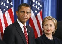 <p>Il presidente eletto Barack Obama con Hillary Clinton REUTERS/Jeff Haynes</p>