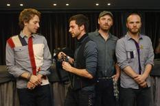 <p>Banda Coldplay desmente denúncia de plágio REUTERS/Albert Gea (SPAIN) (Newscom TagID: rtrphotosthree569346) [Photo via Newscom]</p>