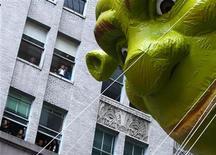 <p>Balão de Shrek desfila durante evento para em Nova York. Foto de arquivo. REUTERS/Brendan McDermid</p>