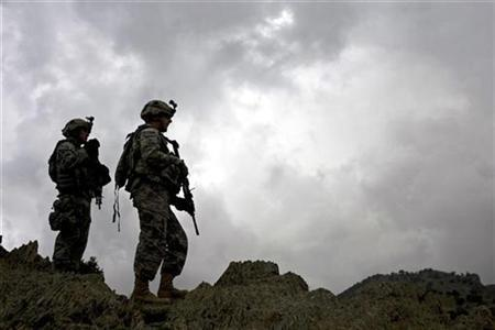 U.S. soldiers from 101st Airborne Division, 506th Infantry Regiment, 2nd Battalion, 4th Platoon patrol in Khost province, May 25, 2008. REUTERS/Rafal Gerszak