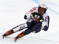 <p>L'Italiano Werner Heel ha vinto oggi il Super-G maschile di Coppa del mondo in Val Gardena. REUTERS/Stefano Rellandini ( ITALY )</p>