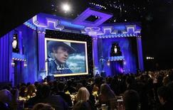 <p>An image of actor Heath Ledger is shown during the memorial section of the show at the 14th annual Screen Actors Guild Awards in Los Angeles in this January 27, 2008 file photo. REUTERS/Mario Anzuoni</p>