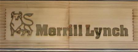 The Merrill Lynch sign is seen above its building in New York September 15, 2008. REUTERS/Chip East