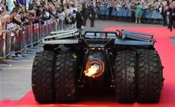<p>The 'Batmobile' at the European Premiere of The Dark Knight in Leicester Square in central London July 21 2008.REUTERS/Toby Melville</p>