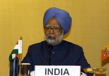 Prime Minister Manmohan Singh is seen a joint news conference at the second summit of the Bay of Bengal Initiative for Multi-Sectoral Technical and Economic Cooperation (BIMSTEC) in New Delhi in this November 13, 2008 file photo. REUTERS/B Mathur/Files