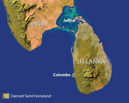 Sri Lanka hit the Tamil Tigers on Wednesday with a terrorist designation it lifted as part of ill-fated 2002 truce, as soldiers pressured the separatists' last stronghold on the Jaffna Peninsula. REUTERS/Graphics