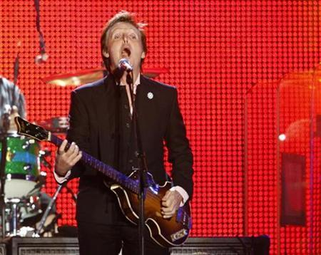 Paul McCartney performs during his concert in Tel Aviv September 25, 2008. REUTERS/Gil Cohen Magen