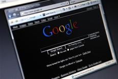 <p>Pagina iniziale del motore di ricerca sul web Google. REUTERS/Mark Blinch</p>