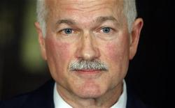 <p>New Democratic Party leader Jack Layton attends a news conference on Parliament Hill in Ottawa December 3, 2008. REUTERS/Blair Gable</p>