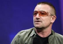<p>Bono speaks during the Clinton Global Initiative, in New York, September 24, 2008. REUTERS/Chip East</p>