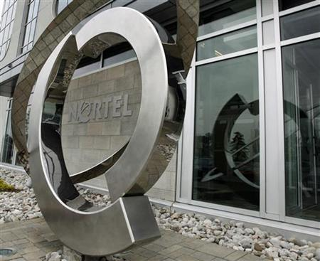 The Nortel logo is seen outside their head office in Toronto May 6, 2008. REUTERS/Mike Cassese