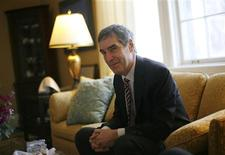 <p>Liberal leader Michael Ignatieff speaks during an interview with Reuters at Stornoway, his official residence, in Ottawa January 20, 2009. REUTERS/Chris Wattie</p>