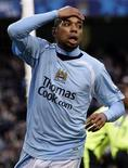 <p>Il calciatore del Manchester City Robinho. REUTERS/Darren Staples (BRITAIN). NO ONLINE/INTERNET USAGE WITHOUT A LICENCE FROM THE FOOTBALL DATA CO LTD. FOR LICENCE ENQUIRIES PLEASE TELEPHONE ++44 (0) 207 864 9000.</p>